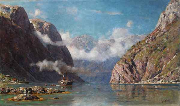 Steamer in the Naeroy... by  Henry Enfield - Masterpiece Online