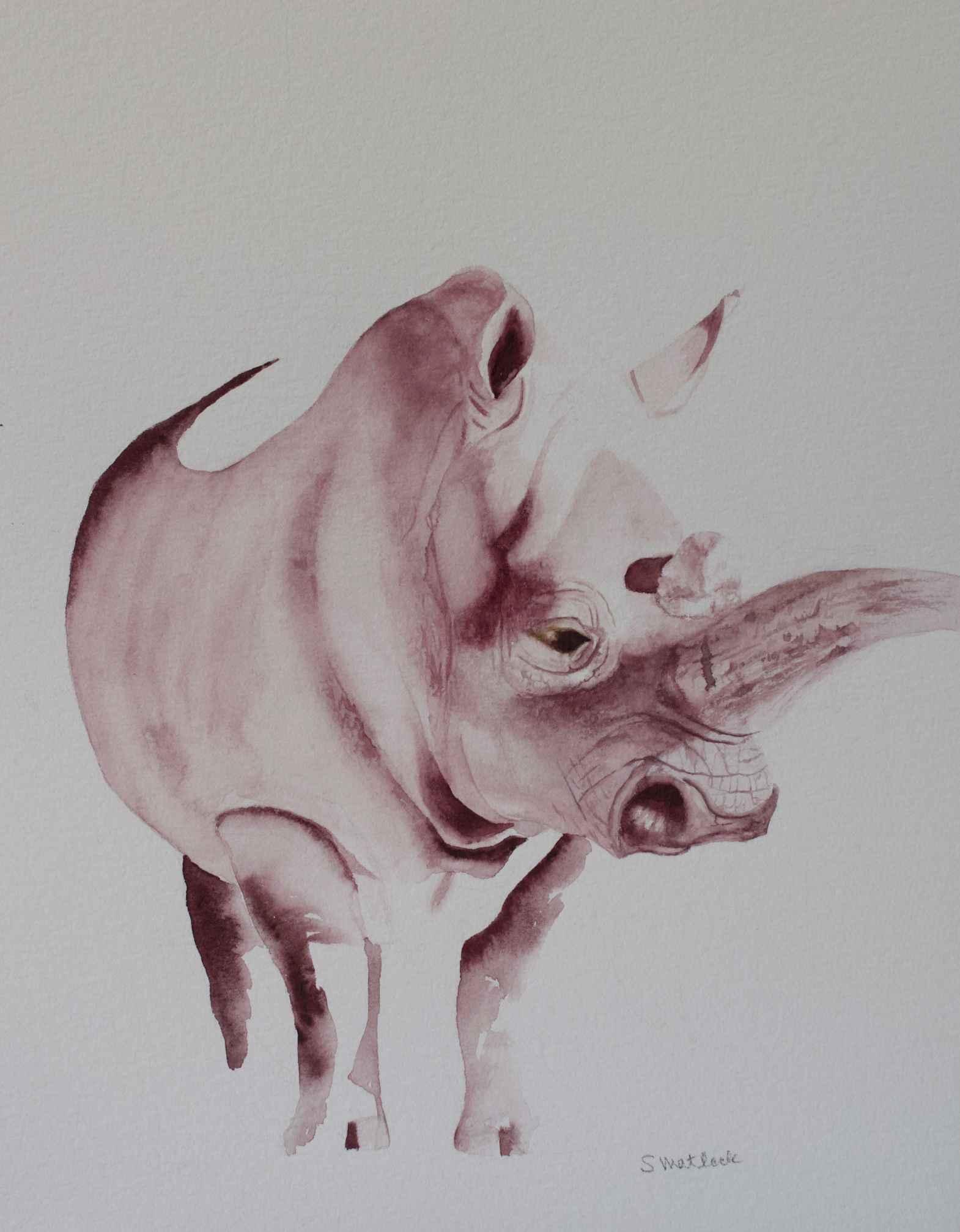 Mauve Rhino by  Sherry Matlack - Masterpiece Online
