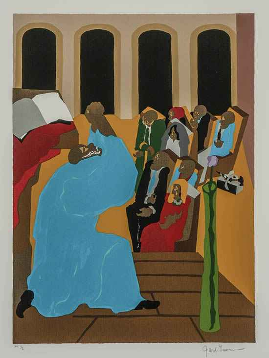 And God Said (Prayer ... by  Jacob Lawrence - Masterpiece Online