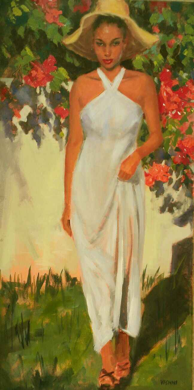 In White Dress With A... by Mrs. Vishni Gopwani - Masterpiece Online