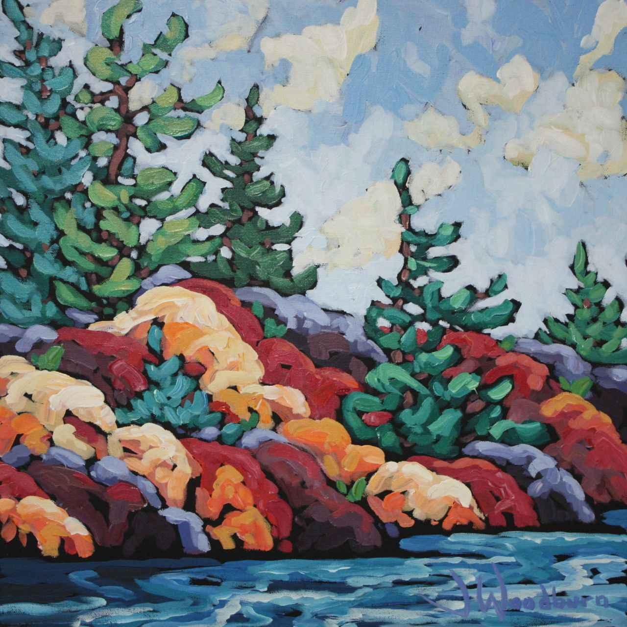 Cascading Rocks by Ms Jennifer Woodburn - Masterpiece Online