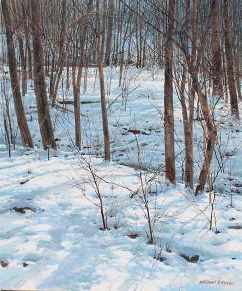 Gentle Slope - Snowy ... by  Michael Wheeler - Masterpiece Online