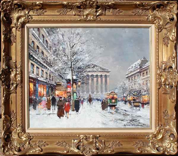 La Madeleine, Rue Roy... by  Antoine  Blanchard  - Masterpiece Online