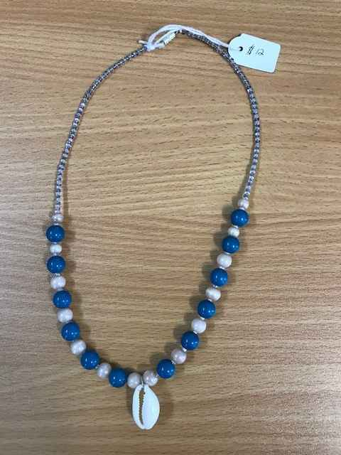 Blue Beads and Shell by  Leilani Hale - Masterpiece Online