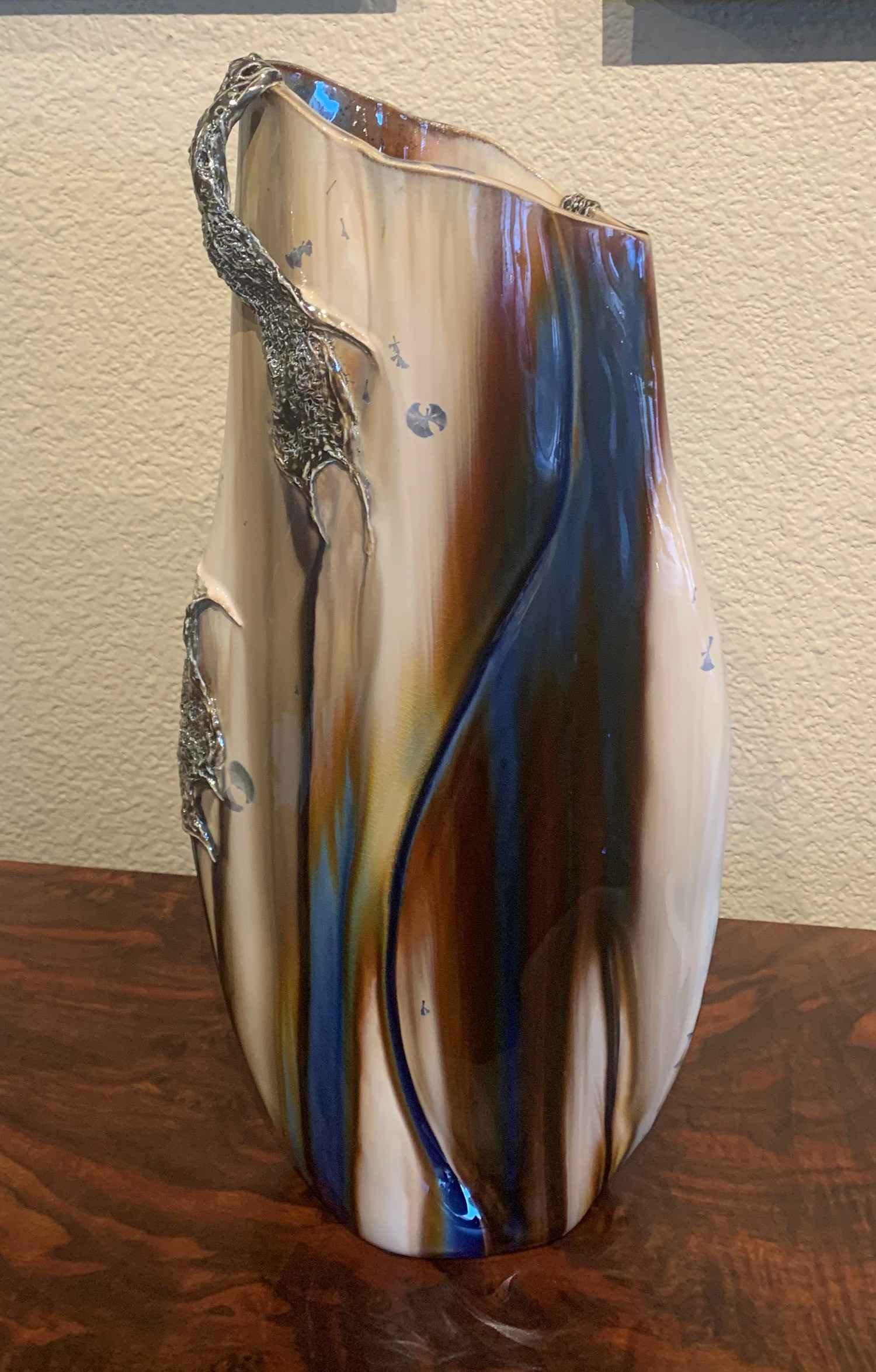 Blue Ocean Surf Vase,... by  Cherry VanCour - Masterpiece Online