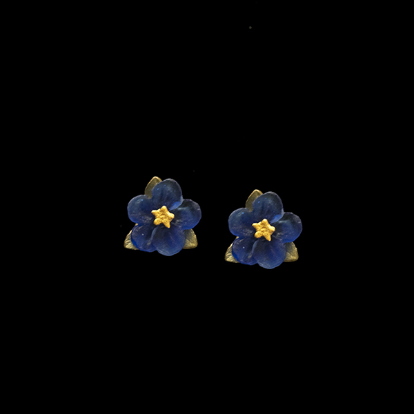 Blue Violet Post Earring