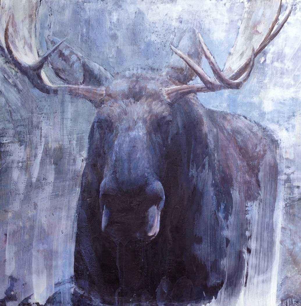 Moose In the Mist by  Paul Garbett - Masterpiece Online
