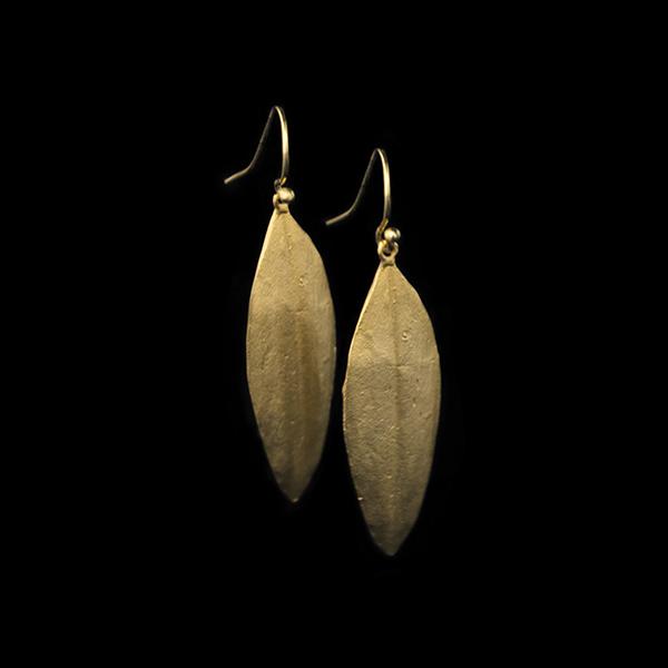 Cordyline Leaf Wire Earrings