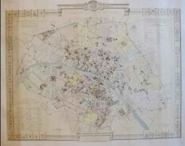 French Map of Paris -... by   Unknown - Masterpiece Online