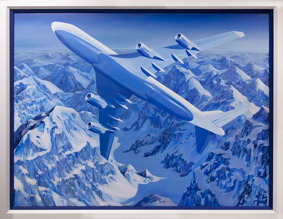 747 Over Mountains by Robert Wymer