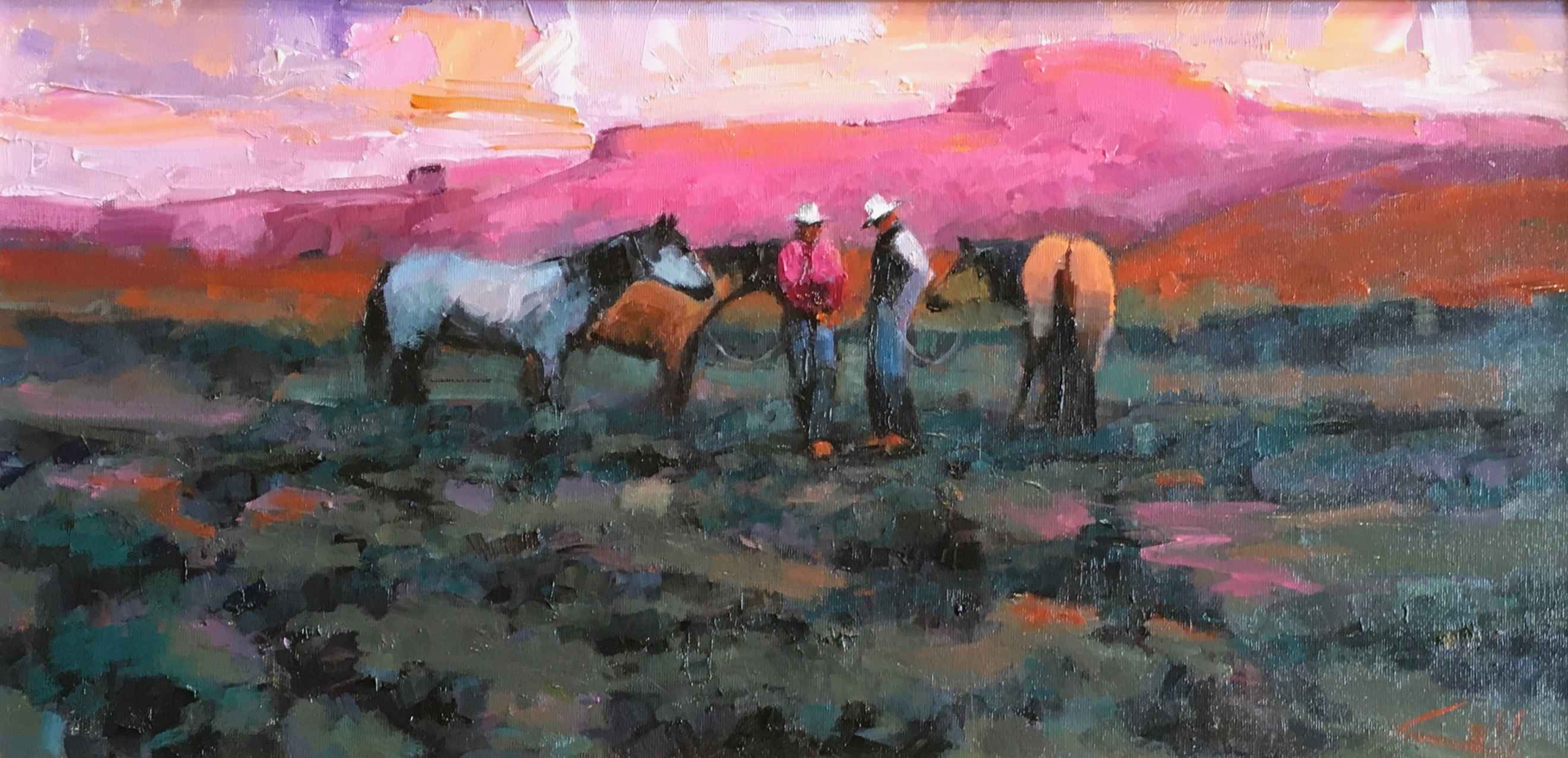 Morning Horse Trappers by  George Coll - Masterpiece Online