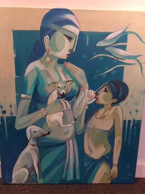 Untitled Painting IX by  Simpee Pratap - Masterpiece Online