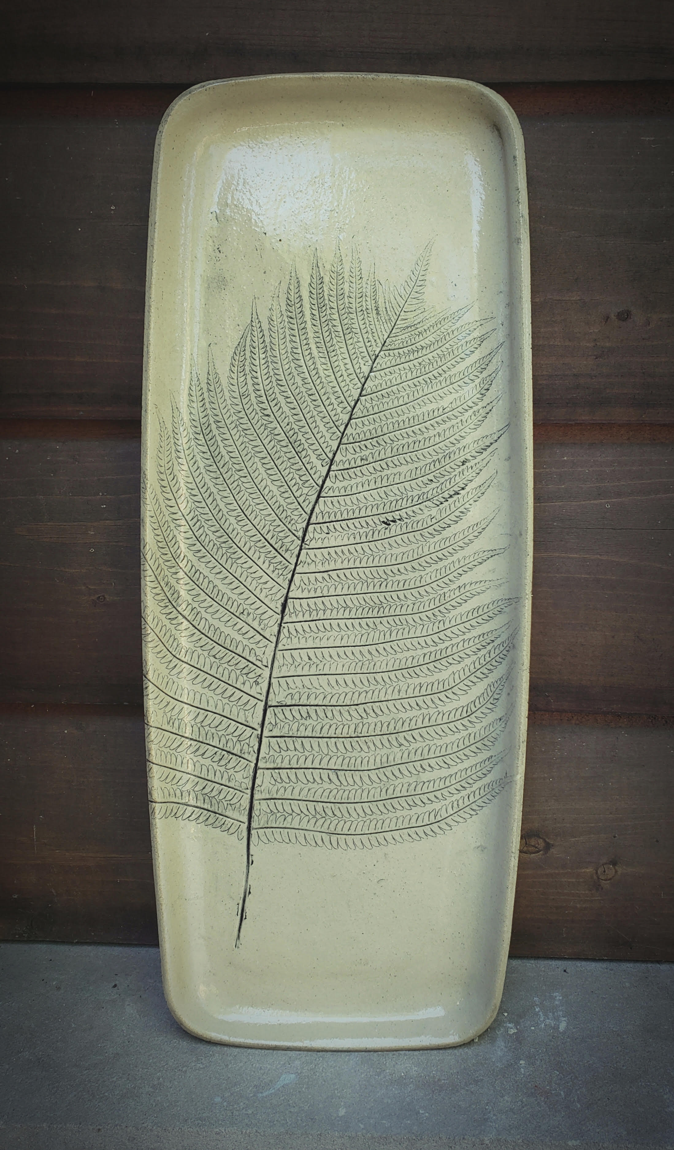 Large Fern Serving Platter