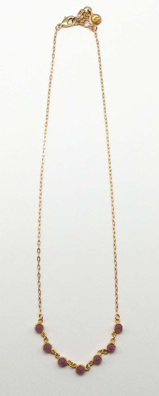 Crystal Small Rounds Necklace 17