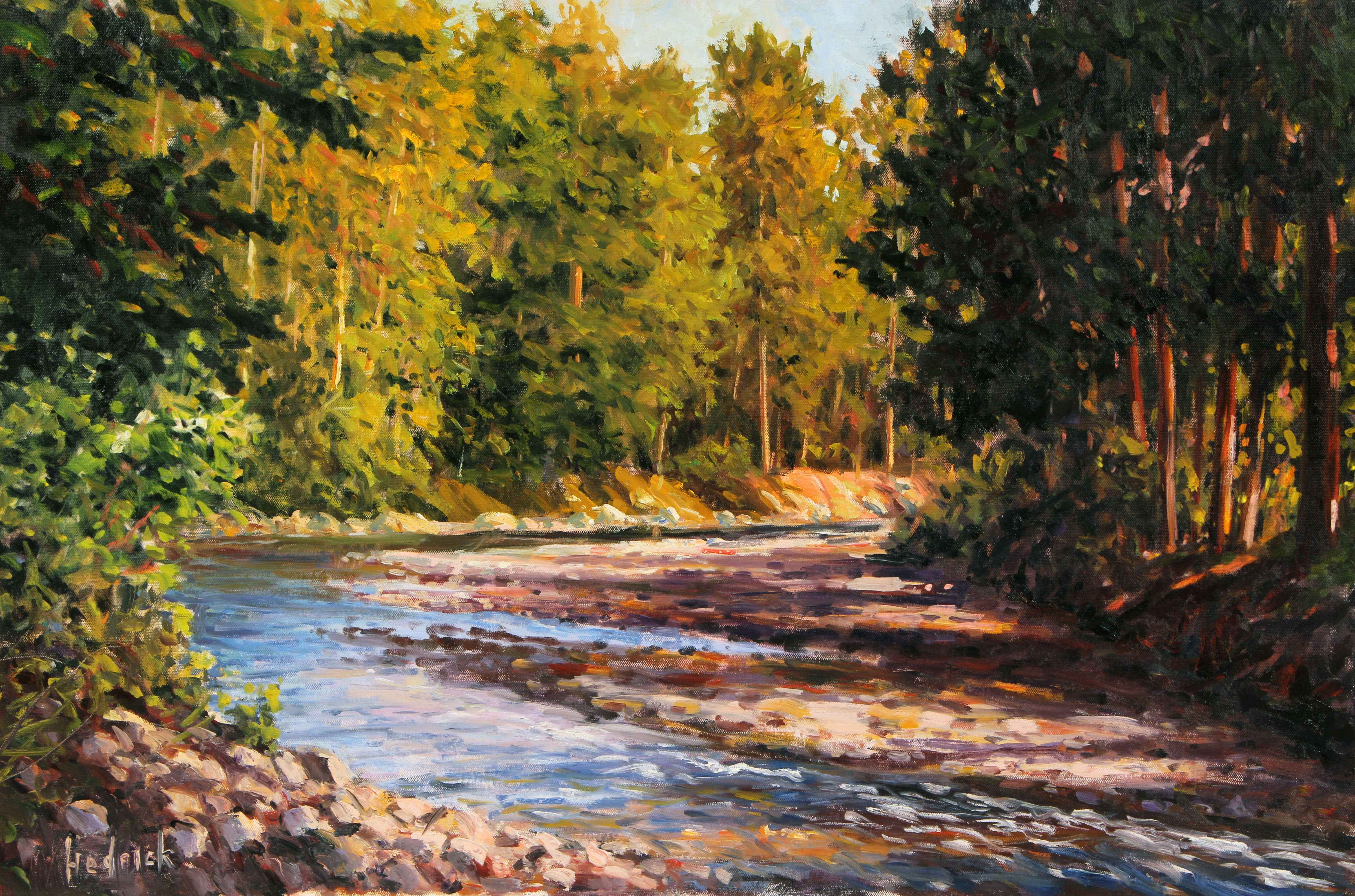 This is River Bend by  Ron Hedrick  art collection of Gainsborough Galleries Inc. represented by Gainsborough Galleries Inc. - Masterpiece Online