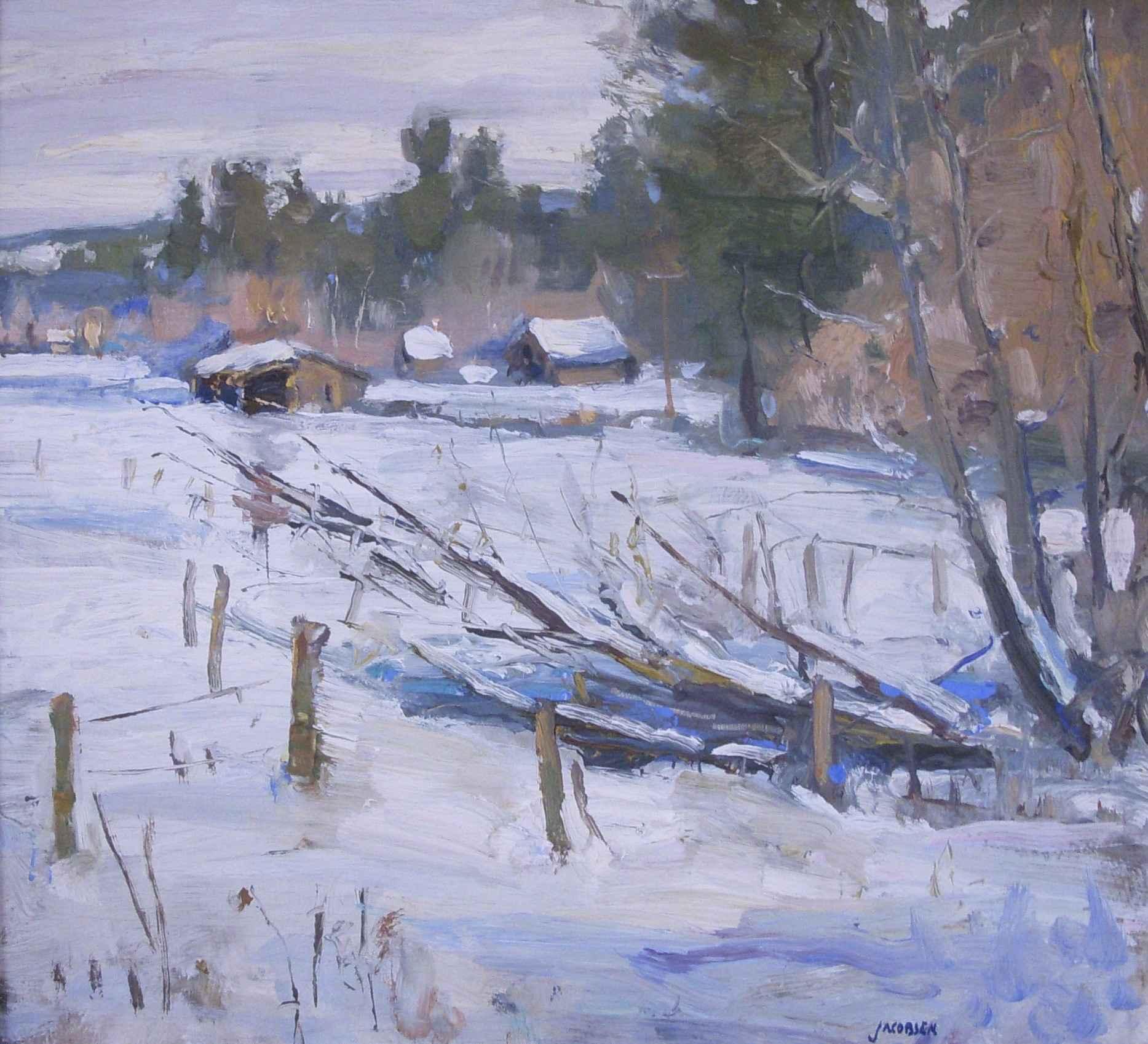 Winter Landscape by  Eric Jacobsen - Masterpiece Online