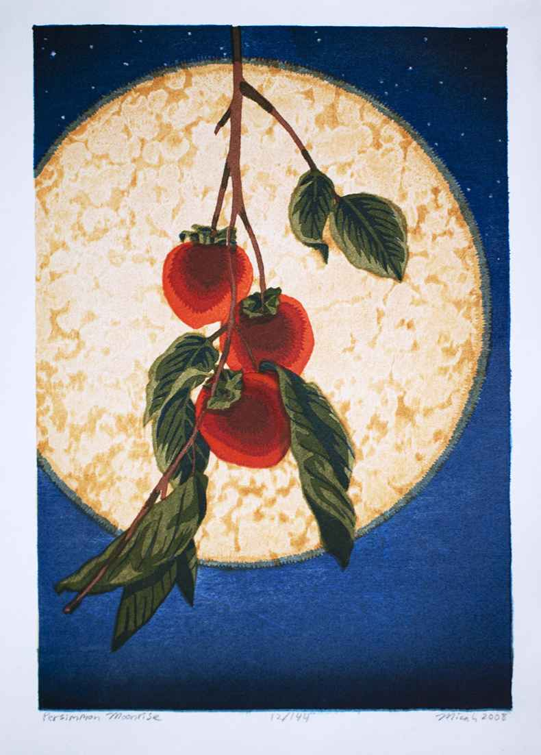 Persimmon Moonrise by  Micah Schwaberow - Masterpiece Online