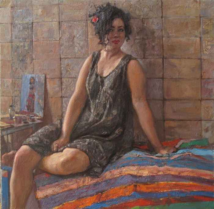 Anna on the Moroccan ... by  Daud Akhriev - Masterpiece Online