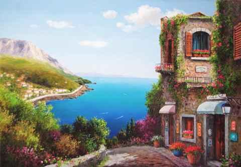 Sea of Green & Blue by  Soon Ju Choi  - Masterpiece Online