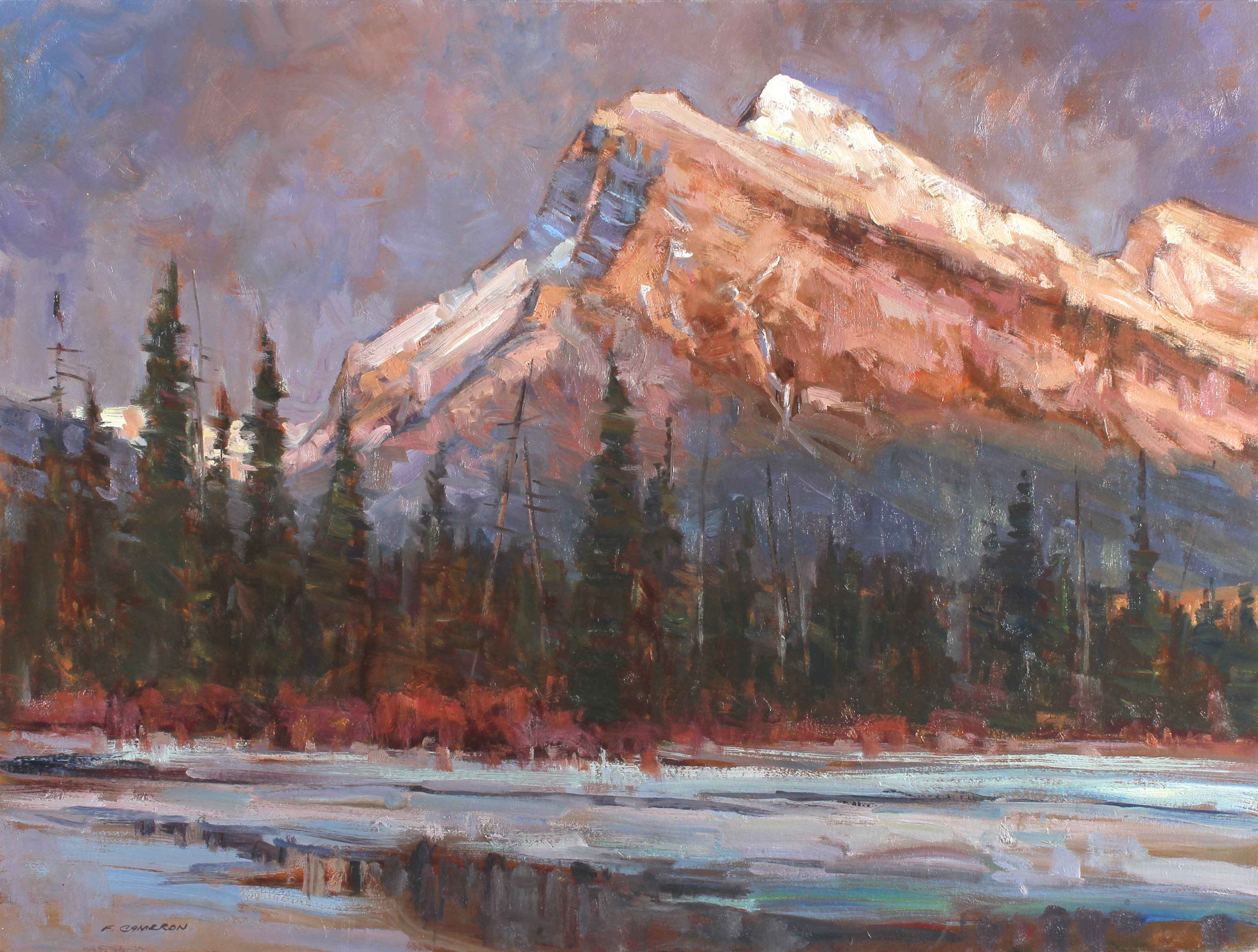 Evening Mount Rundle  by  Fred Cameron