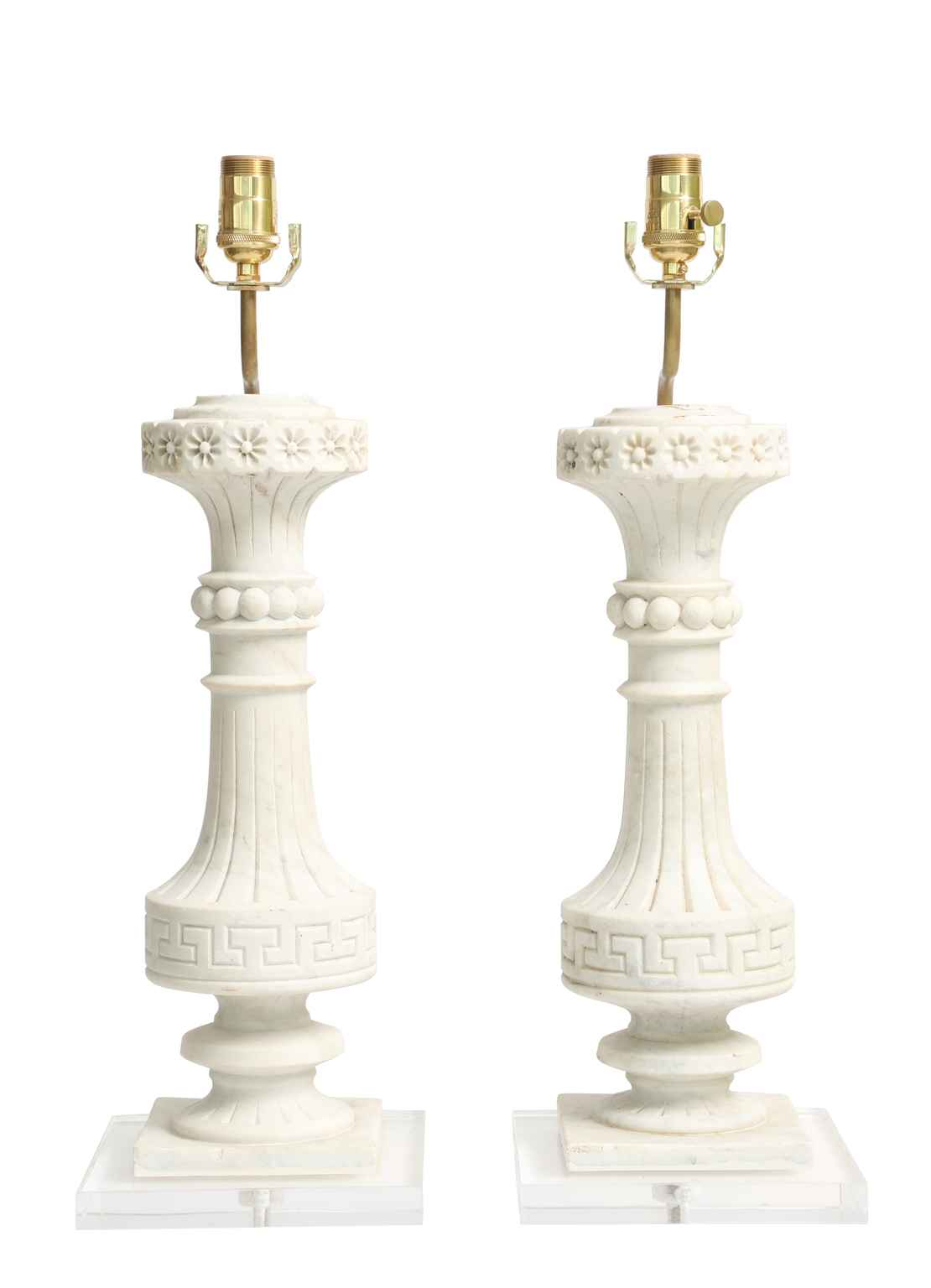 Pair of Carved Marble... by  Italian  - Masterpiece Online