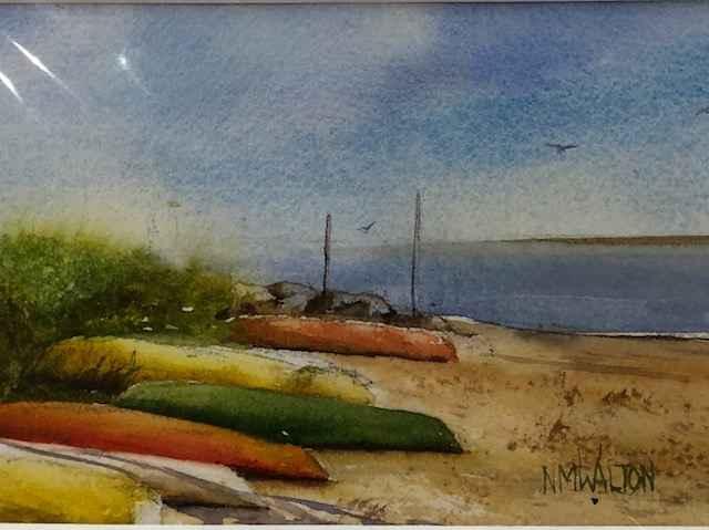 Kayak Beach by  Nancy Motley Walton - Masterpiece Online