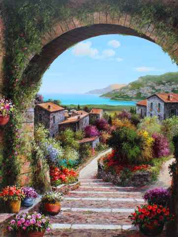 Down the Flower Lane by  Soon Ju Choi  - Masterpiece Online
