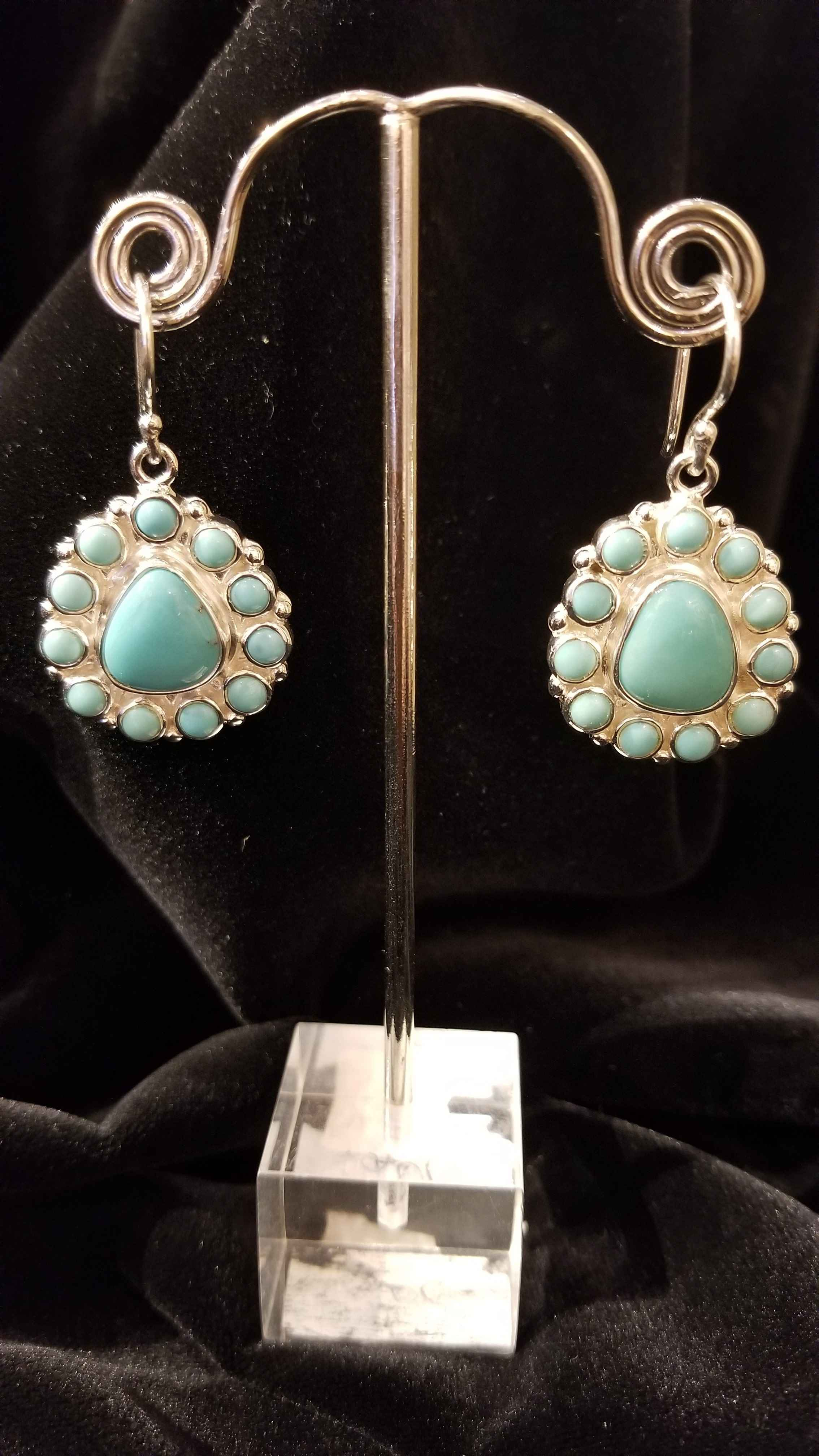 Turquoise Rounds Earr... by  Starborn  - Masterpiece Online