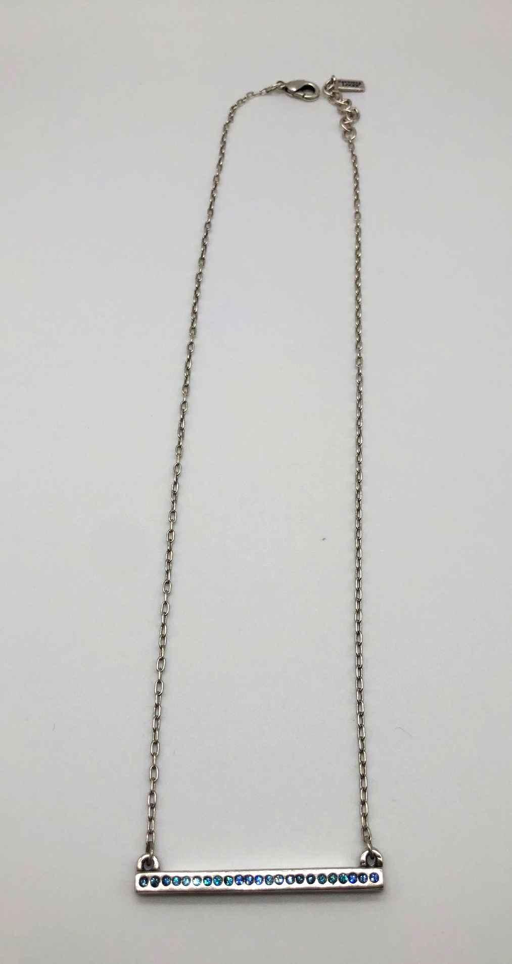 Axis Necklace In Silver, Bermuda