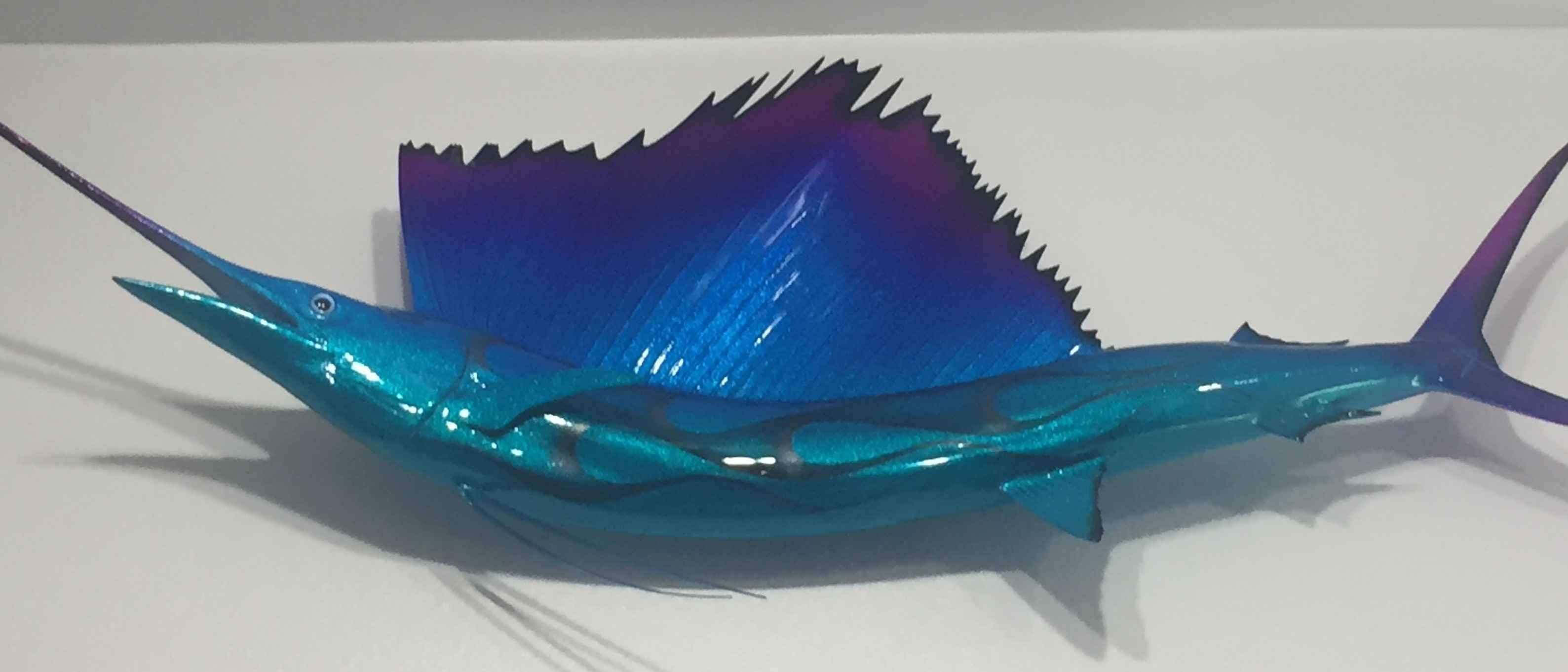 Sailfish-Purple &Viol... by  Cris Woloszak - Masterpiece Online