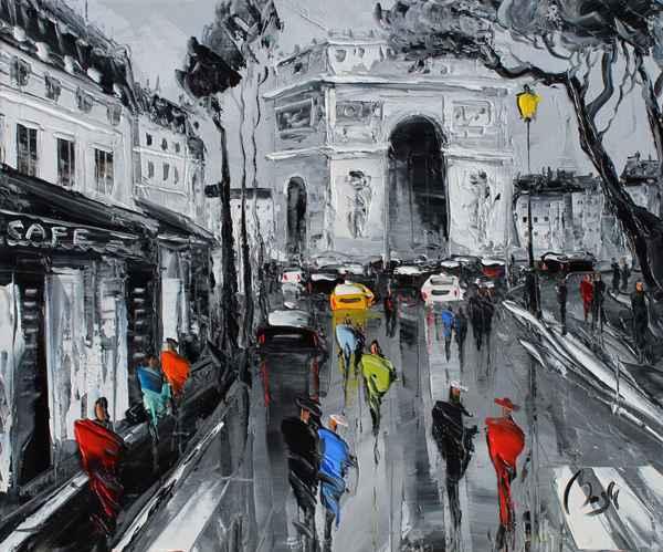 Arc de Triomphe by  Louis  Magre - Masterpiece Online