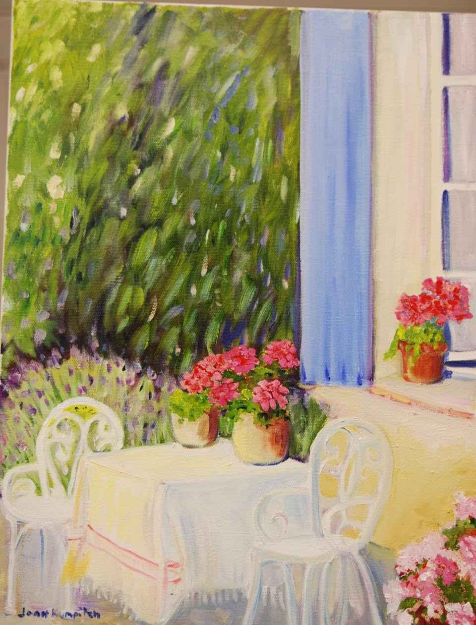 Provencal Courtyard by  Joan Kumpitch - Masterpiece Online