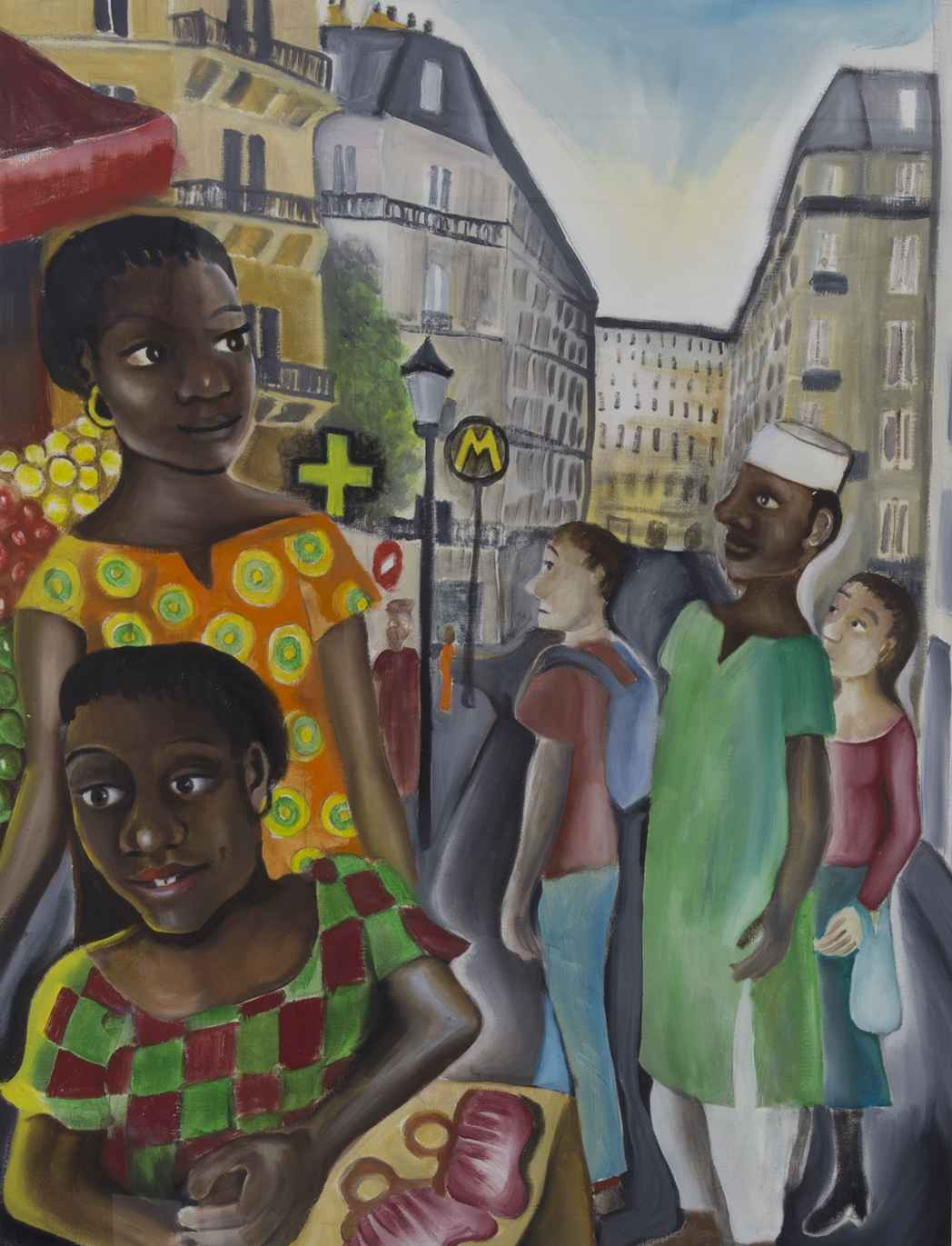 Woman at Marche Dejean by Ms. Rebecca Vincenzi - Masterpiece Online
