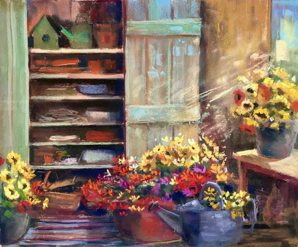 Flowers in the Shed by  Carol Rowan - Masterpiece Online