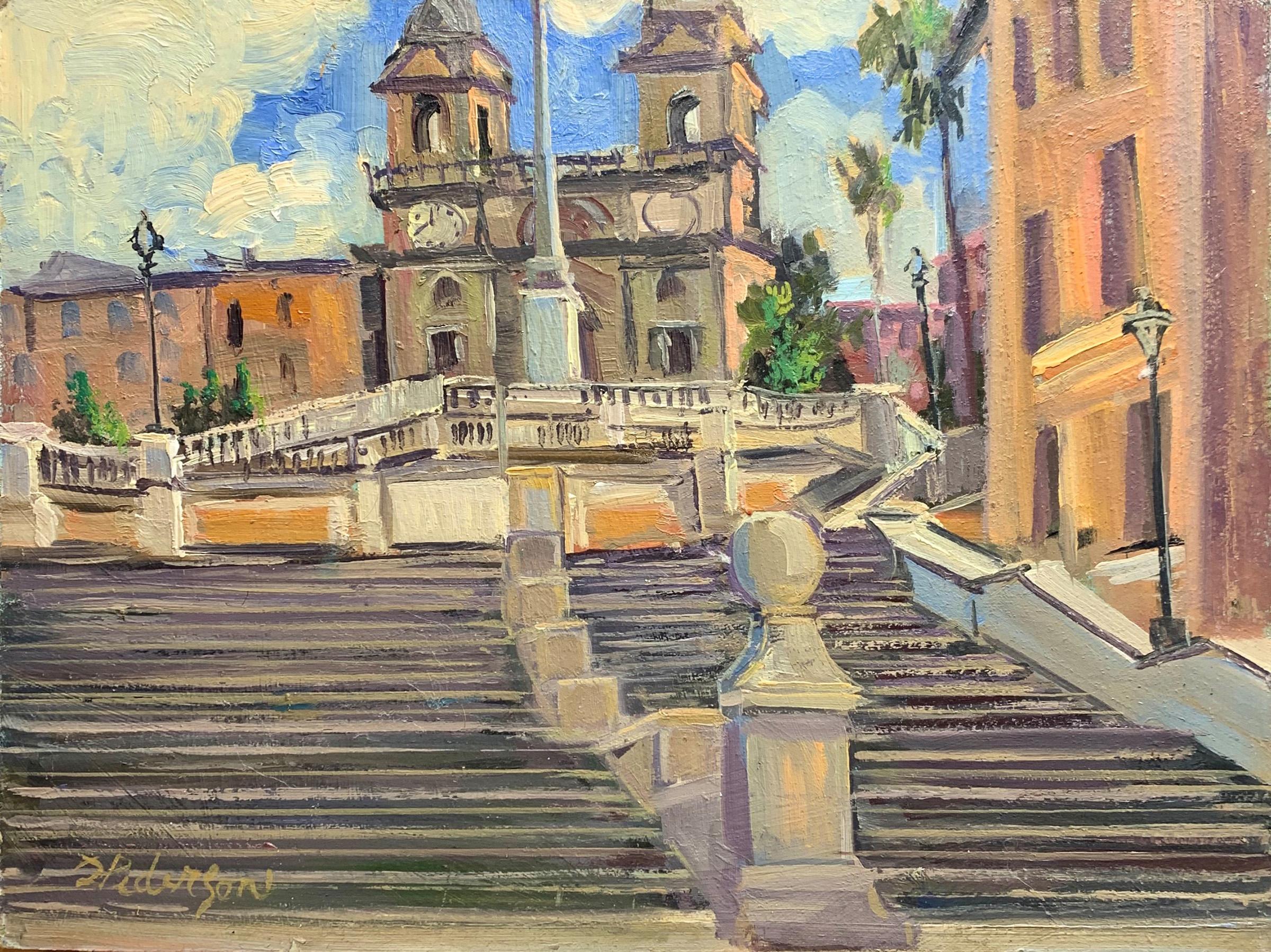 Spanish Steps, Rome I... by  Doloris Pederson - Masterpiece Online