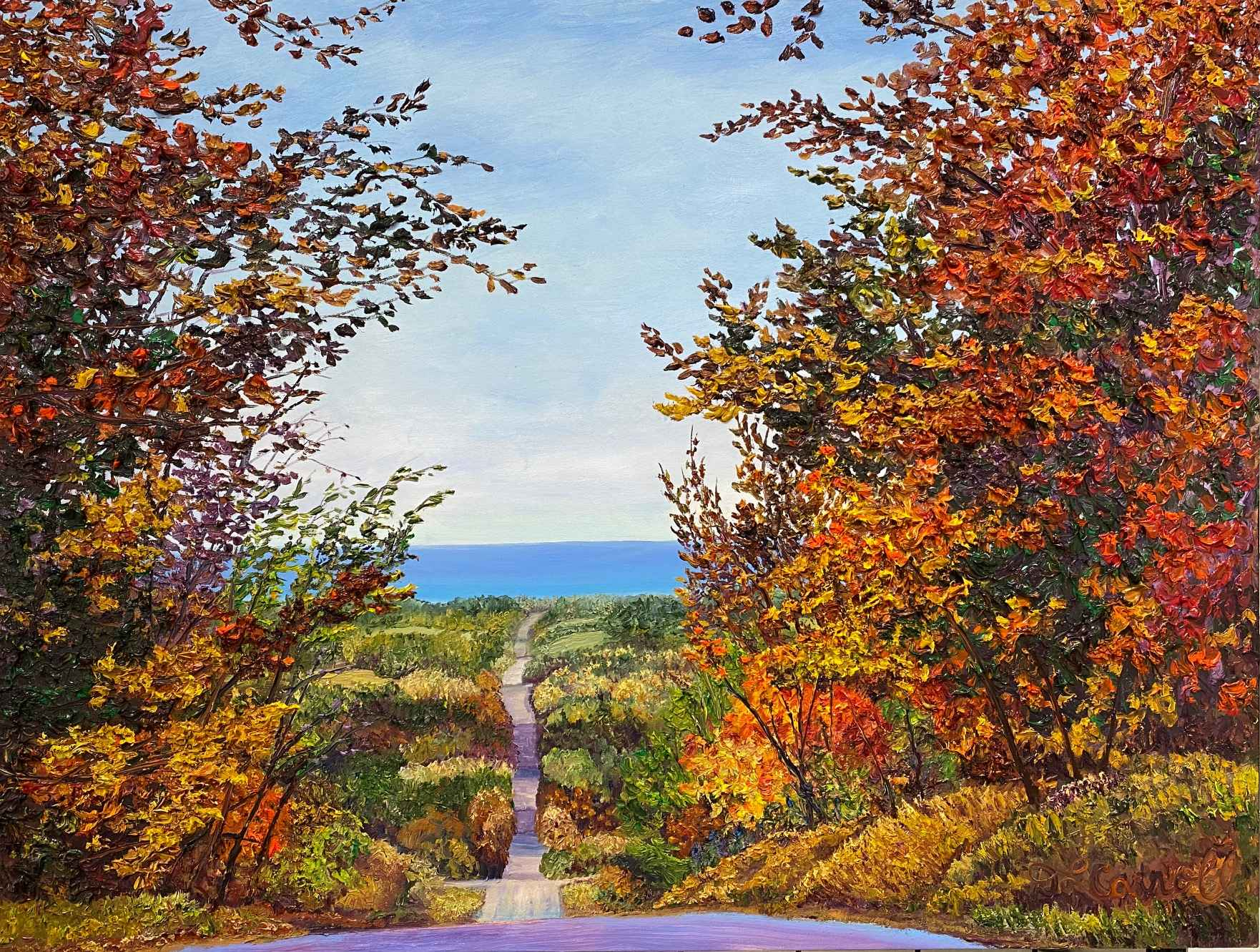 Downhill to the Bay by Ms Debra Lynn Carroll - Masterpiece Online