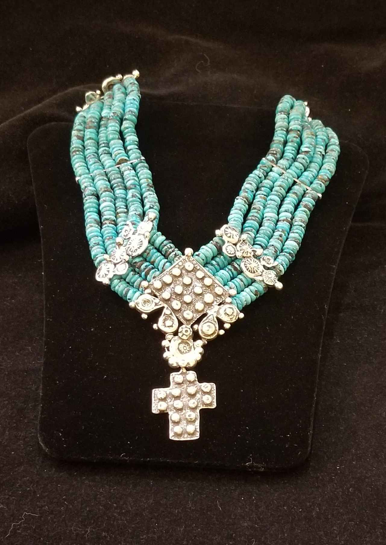 Turquoise & Cross Nec... by  Mummy's Bundle - Masterpiece Online