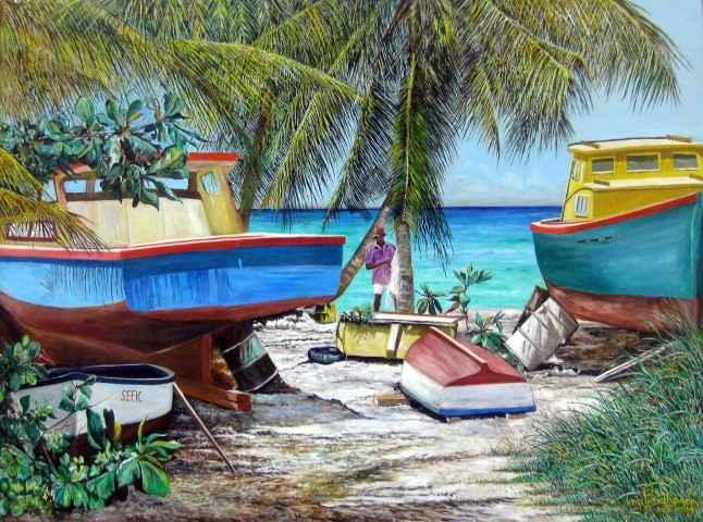Mending Nets by Mr. Virgil Broodhagen - Masterpiece Online