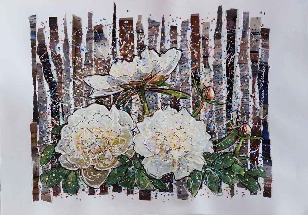 Pivoines blanches by Mme Marianne RUBIO - Masterpiece Online