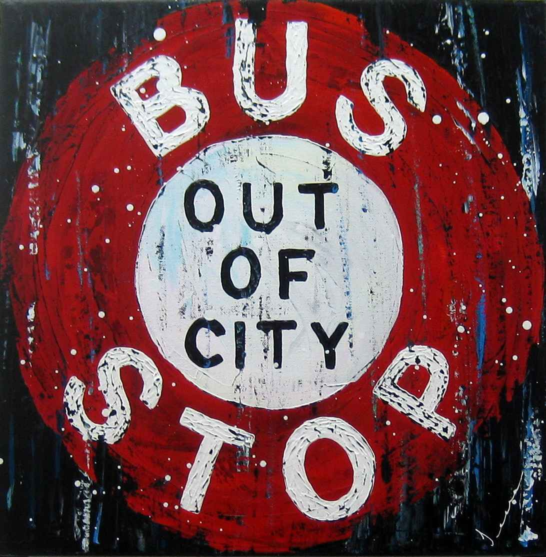 Bus Stop Out of City by  Jeena Chatrani - Masterpiece Online