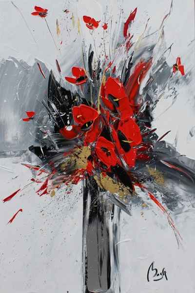 Red  Bouquet by  Louis  Magre - Masterpiece Online