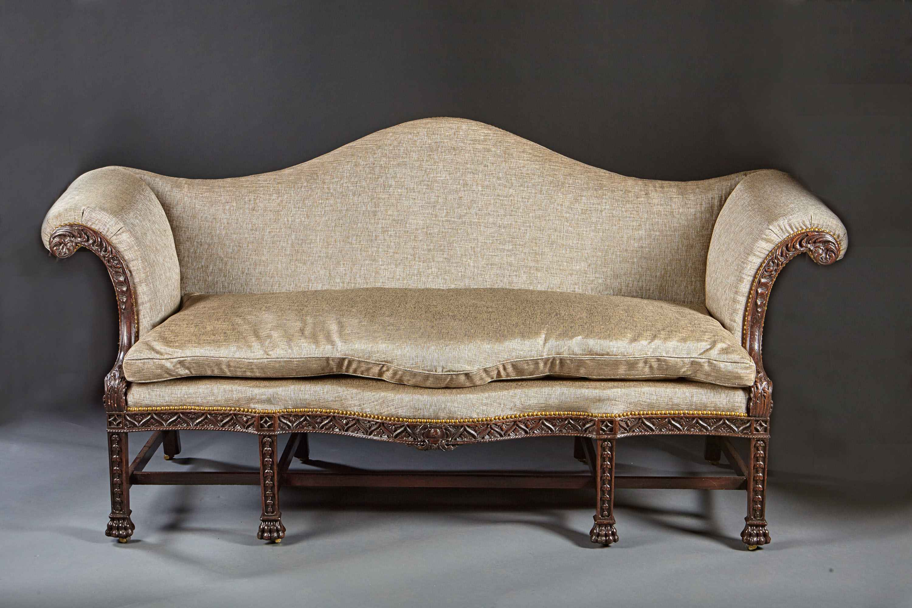 A Beautifully Carved Chippendale Sofa By B Sergeant