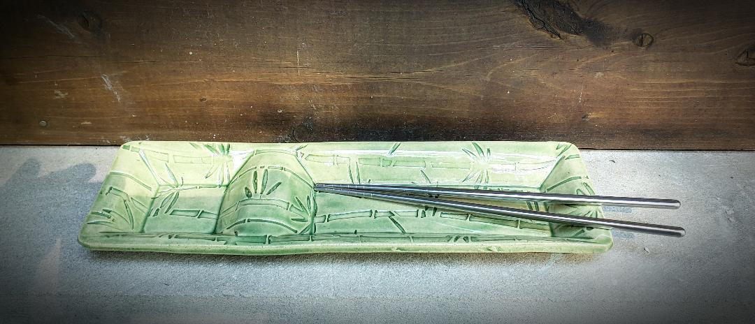 Sushi Dish - Bamboo Green