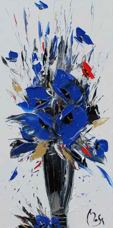Gold Leaves, Blue Pop... by  Louis  Magre - Masterpiece Online
