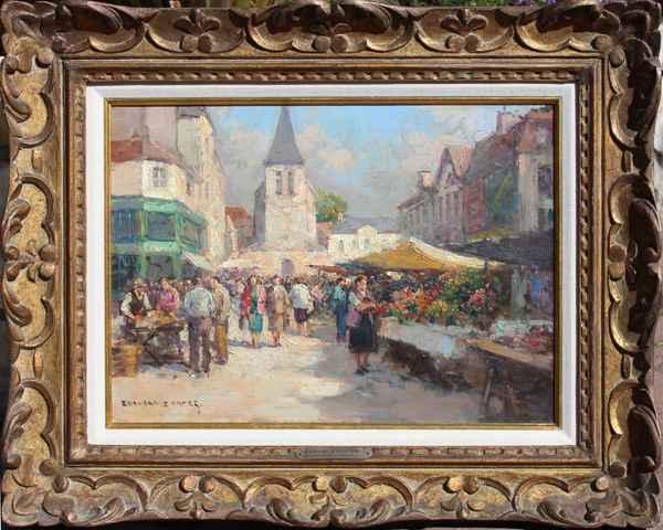 Marche de Lagny by  Edouard  Cortes  - Masterpiece Online