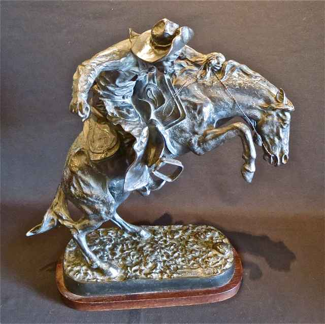 Bronco Buster   _91/1... by  Frederic Remington (1861-1909) - Masterpiece Online
