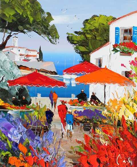 Harbor View by  Louis  Magre - Masterpiece Online