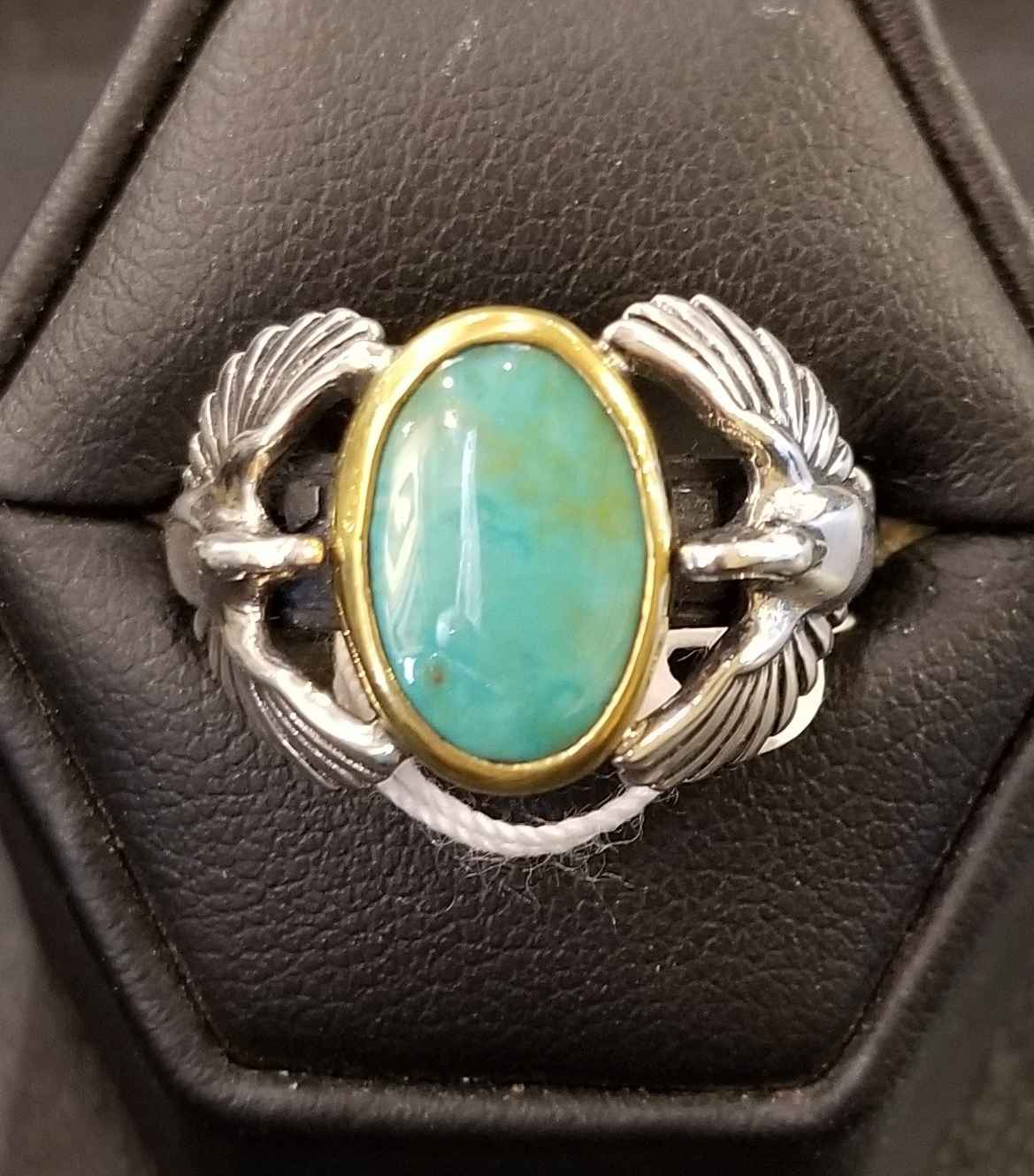 Turquoise Swan Ring by  Heyoka Merrifield - Masterpiece Online