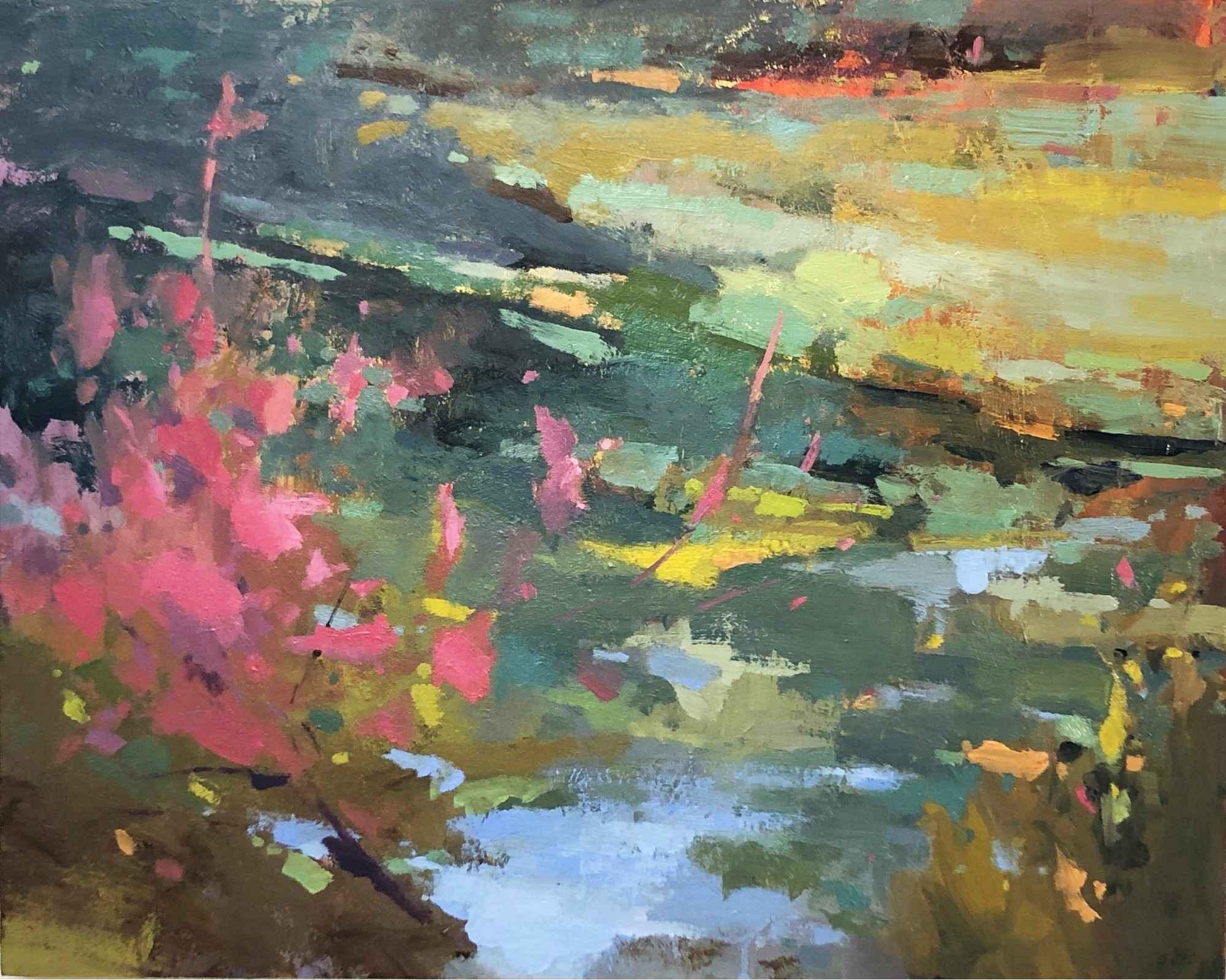 Pink Tree Wetland by  Scott Gellatly - Masterpiece Online