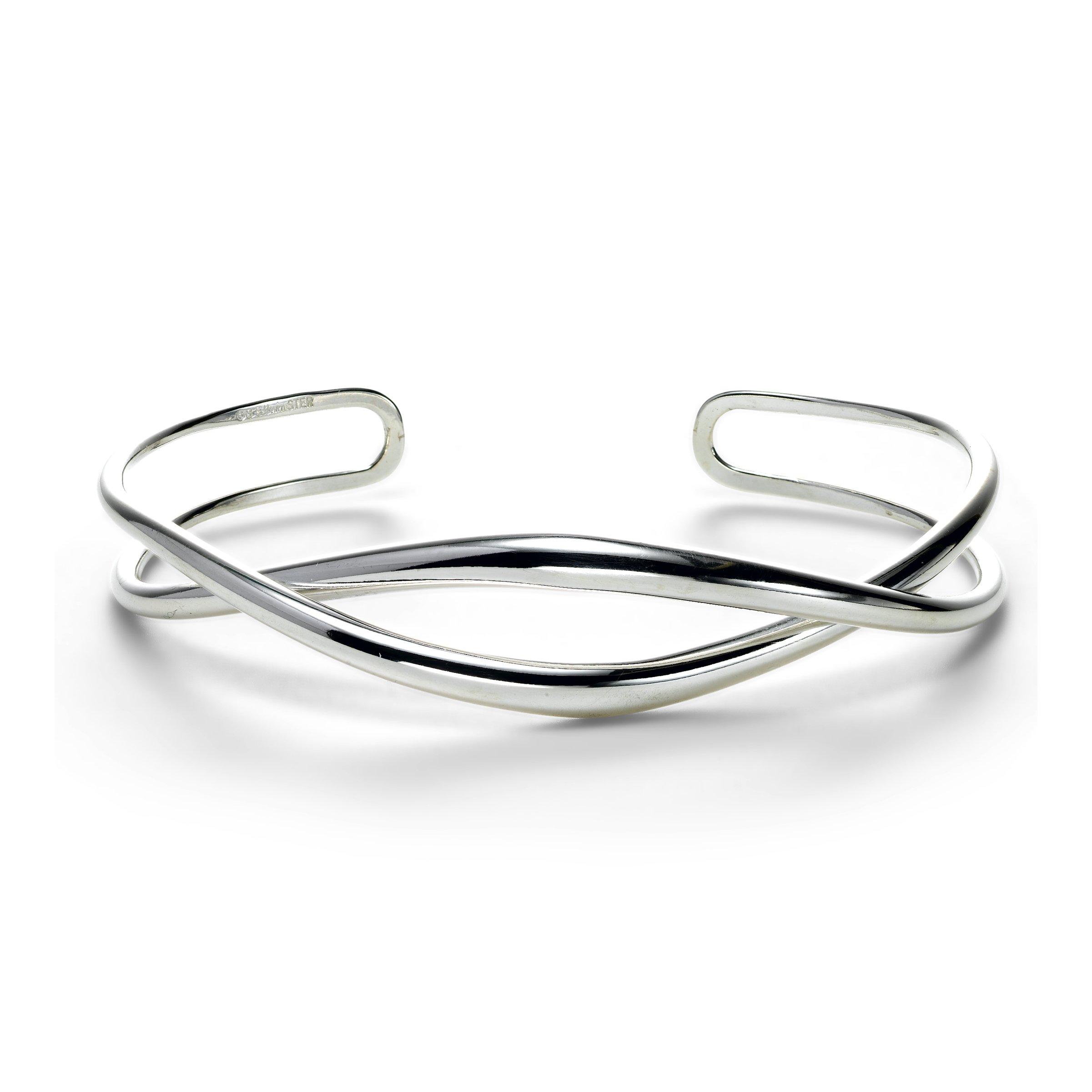 Tendril Cuff Bracelet Sterling Silver, size med-large (6
